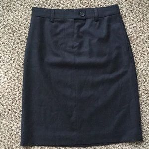J Crew 100% Italian wool pencil skirt / size 0